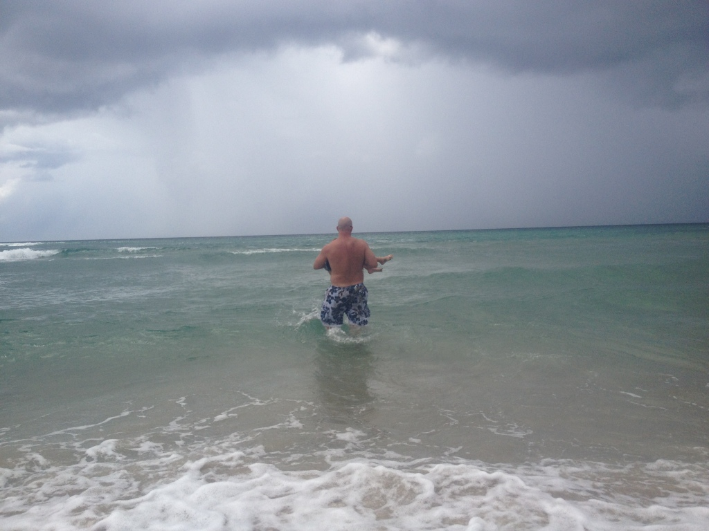 The water was glass in motion, the storm was rolling in and I couldn't love my boys more!